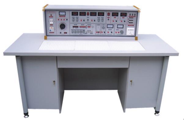 SBK-530模电、数电实验室成套设备 适用于高等院校及要求较高的中专、技校、职业学校,可完成电工学、电工原理、电路分析、模拟电子技术、数字电路,电气控制设备等课程实验。该设备是现有实验室设备的更新换代或新建、扩建实验室的理想产品,它的配备是学校上水平、上等级的重要标志。  单价:134700元/套13台 本系列产品的特点: 实验台具有较完善的安全保护措施,较齐全的功能。实验操作桌中央配有通用电路插扳,电路插板注塑而成,表面均布有九孔成一组相互联通的插孔,元件盒在其上任意拼插成实验电路;元件盒盒体透明,直